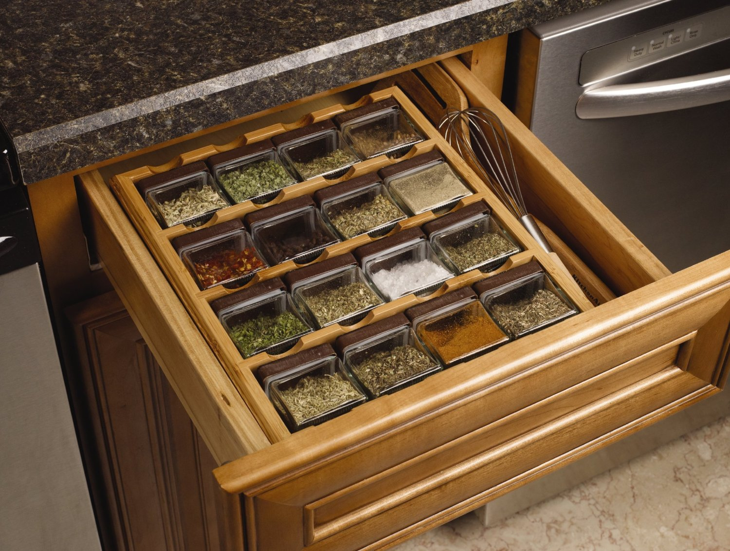 16-Cube Drawer Spice Rack