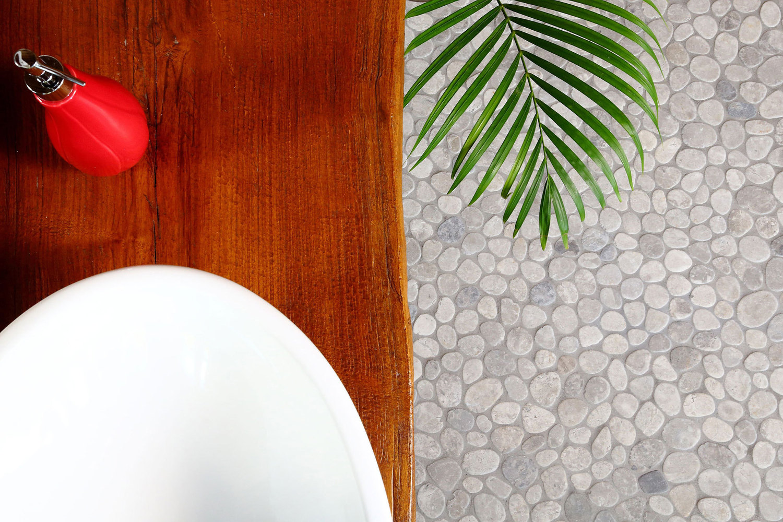 random pebble mosaics ambiente