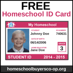 make your own homeschool id cards simply oshun home school