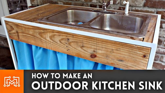 how to make an outdoor kitchen sink - i like to make stuff