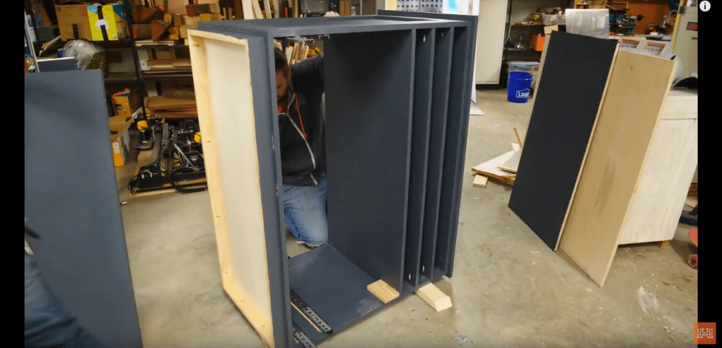 How to Make a Map Cabinet - Mount the Shelves