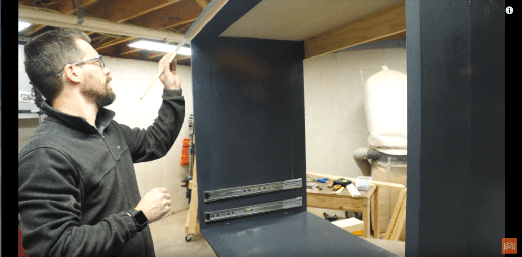 How to Make a Map Cabinet - Paint the Map Cabinet