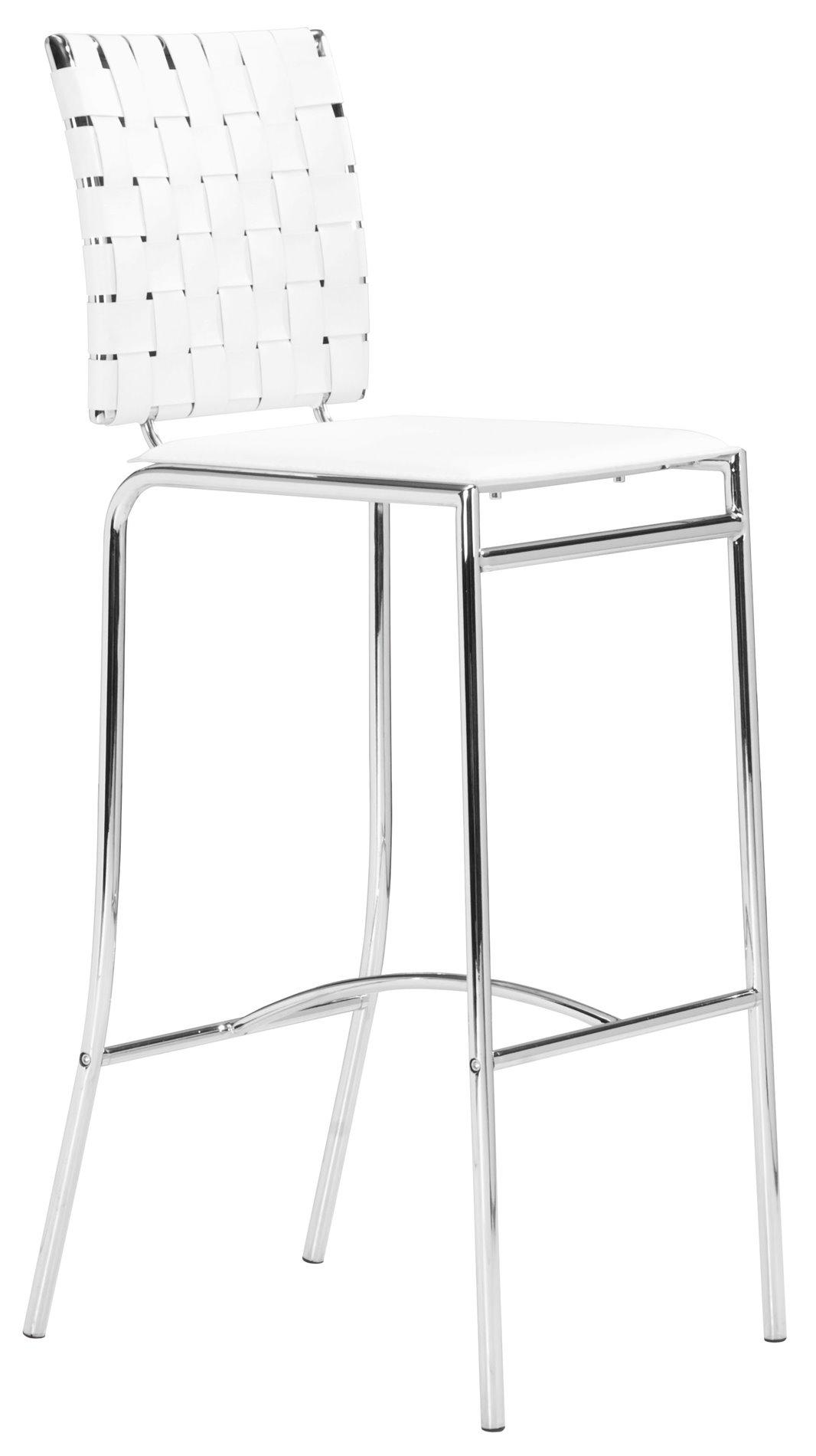 Zuo Modern Criss Cross Barstool Pack Of 2 Zm