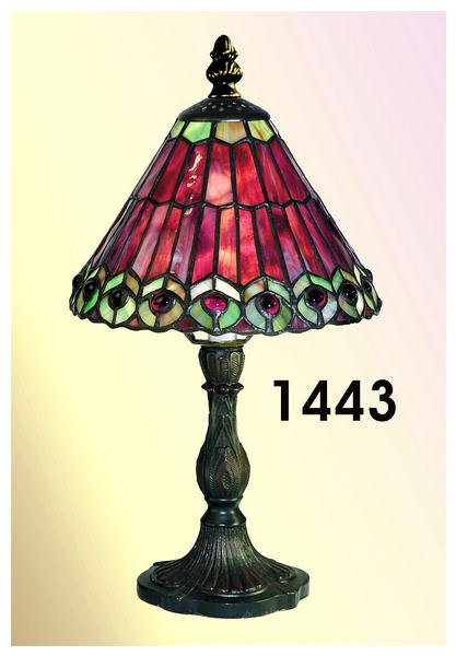 Paul Sahlin Tiffany 1443 Peatail Tiffany Accent Table Lamp