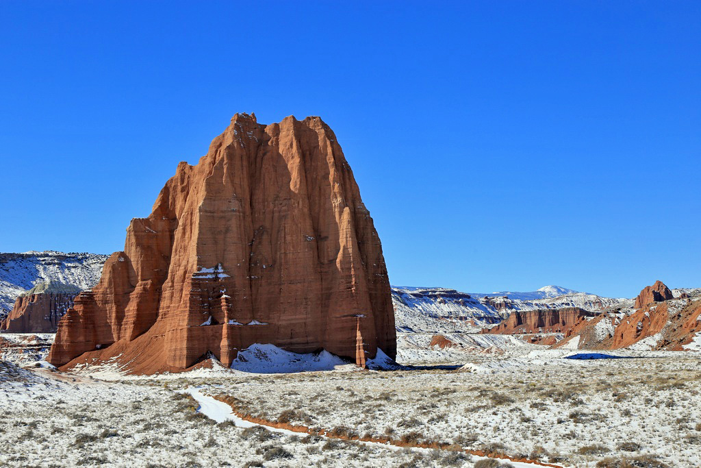 Cathedral Valley Snow