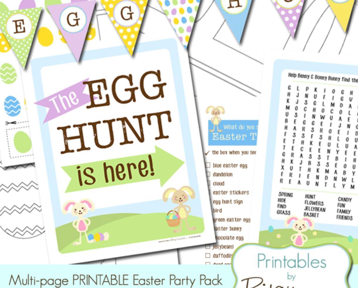 Deal 5 For Printable Easter Egg Hunt Amp More 60 Off