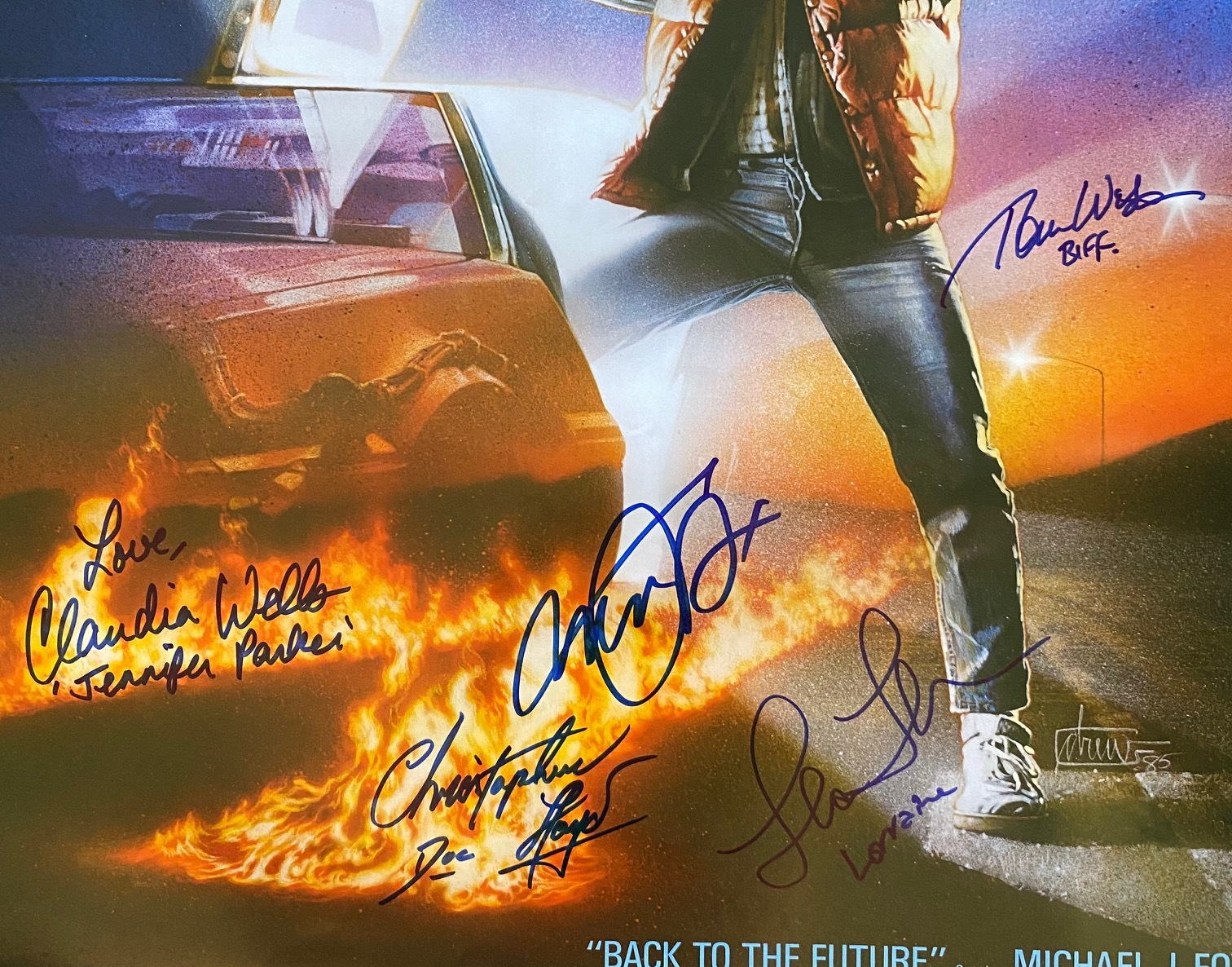 future full cast signed poster