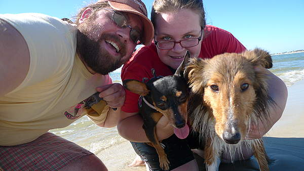 Ben and Amanda (and their dogs) were my friendly hosts in Mobile, Alabama
