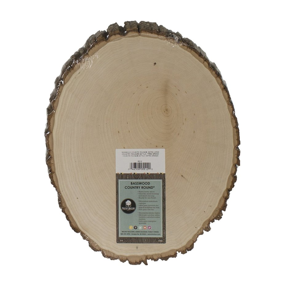 "Extra Large Basswood Rustic Country Round - 11"" to 13"" Wide WP001"