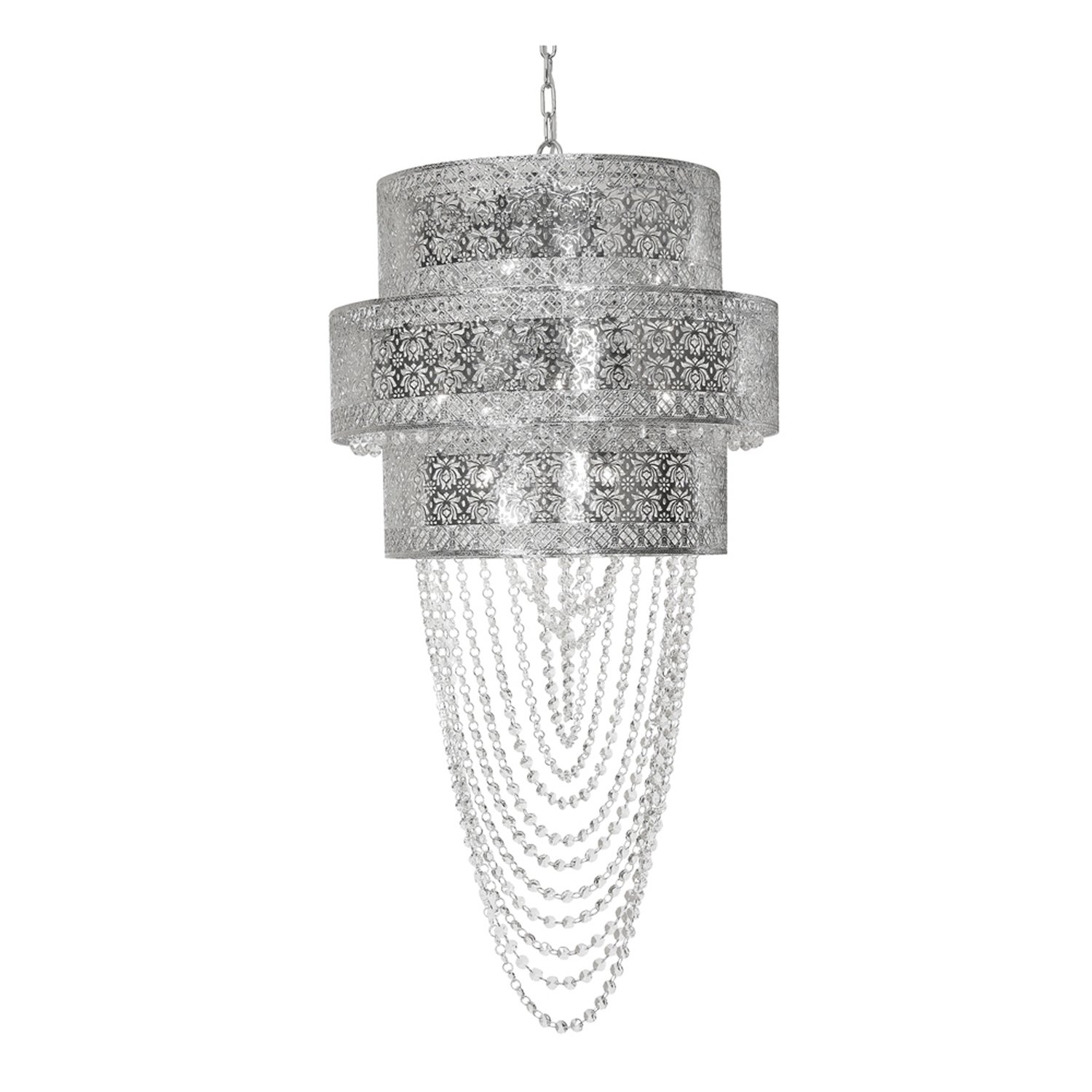 Lyra Chrome Amp Crystal 12 Light Fitting