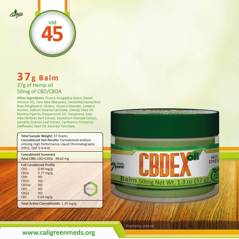 CBDEX Balm 1.3oz 37g 50mg 00004