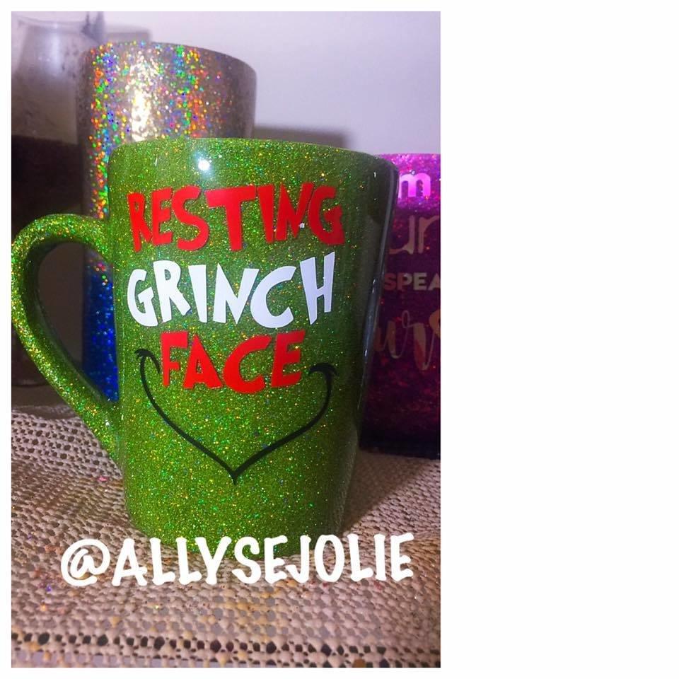 Resting Grinch Face Mug 00024