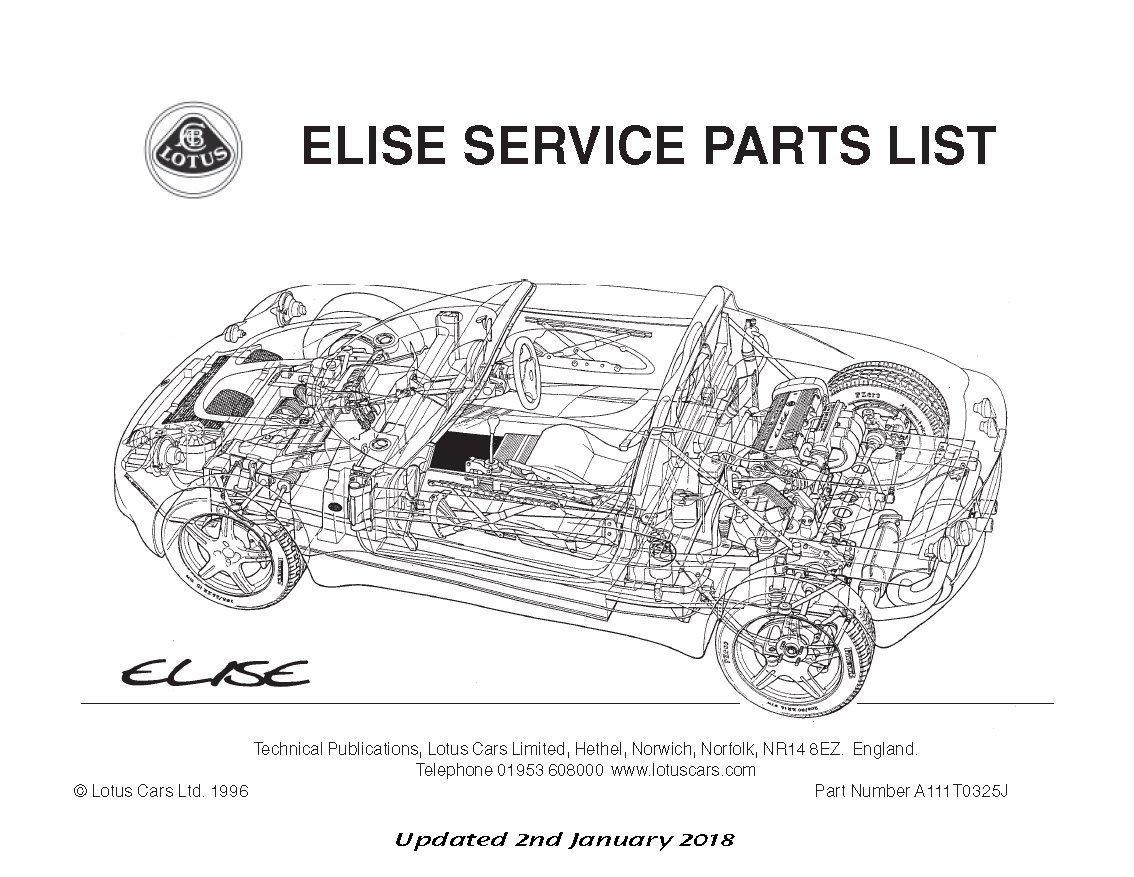 Teile Handbuch Lotus Elise Mk1