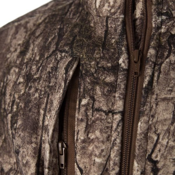 Downwind Jacket in Blindspot Camouflage - Right Chest Zip Pocket Detail