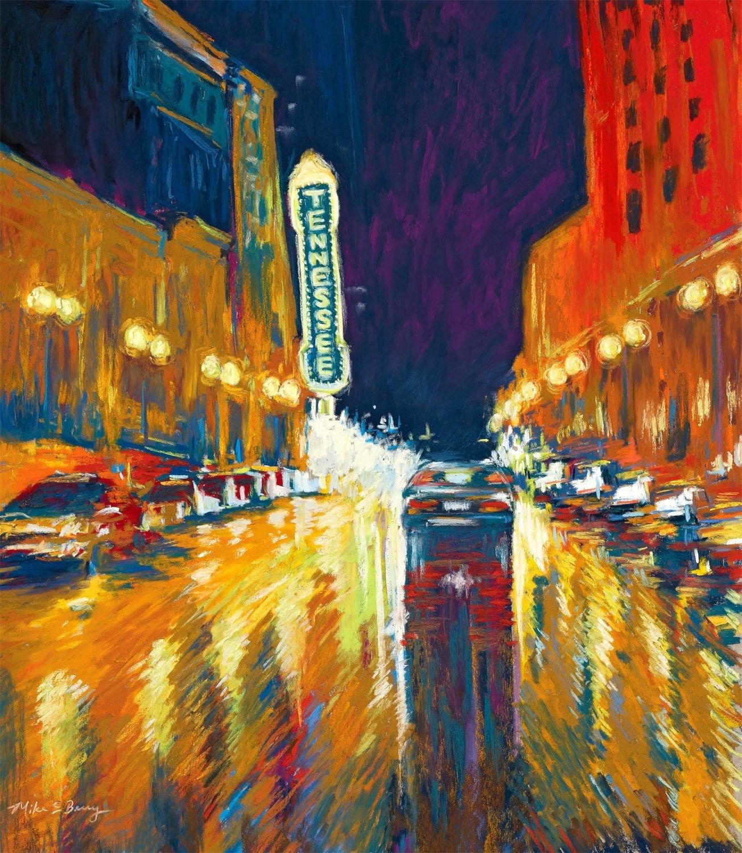 Gay Street Rainy Night 00002