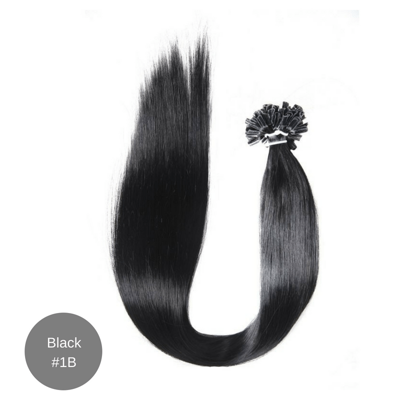 Micro Hair Extensions 18' Black 1B (10 Strand Bundle) 00001