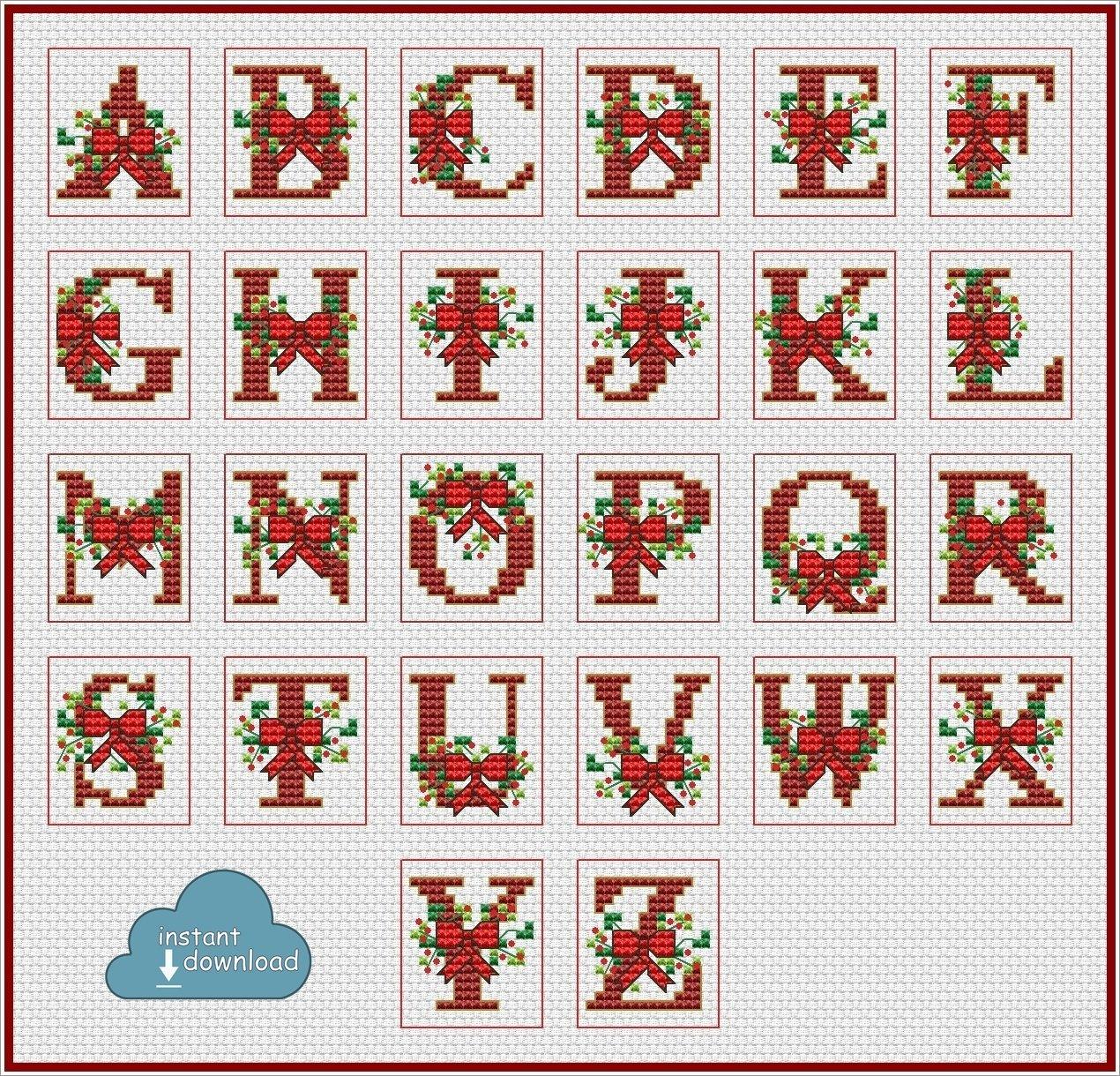 Christmas Abc Cross Stitch Chart Xsd Download