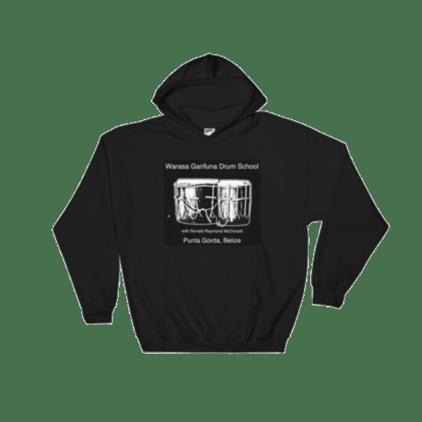 Black Hoodie with Warasa Drum School logo