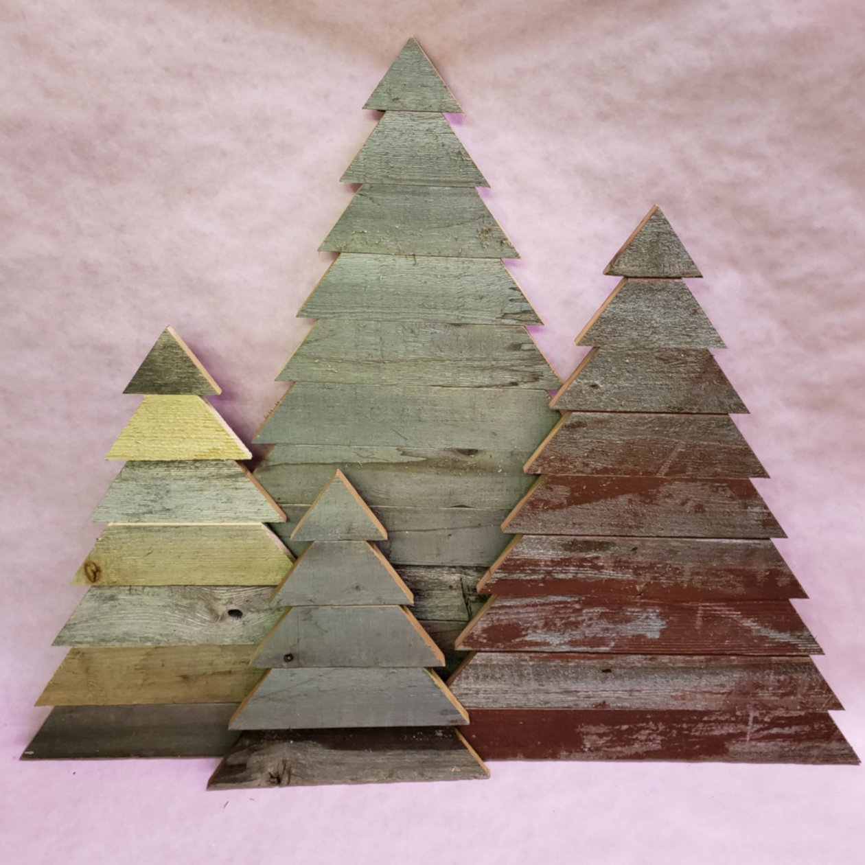 Handmade Wooden Christmas Trees 00000