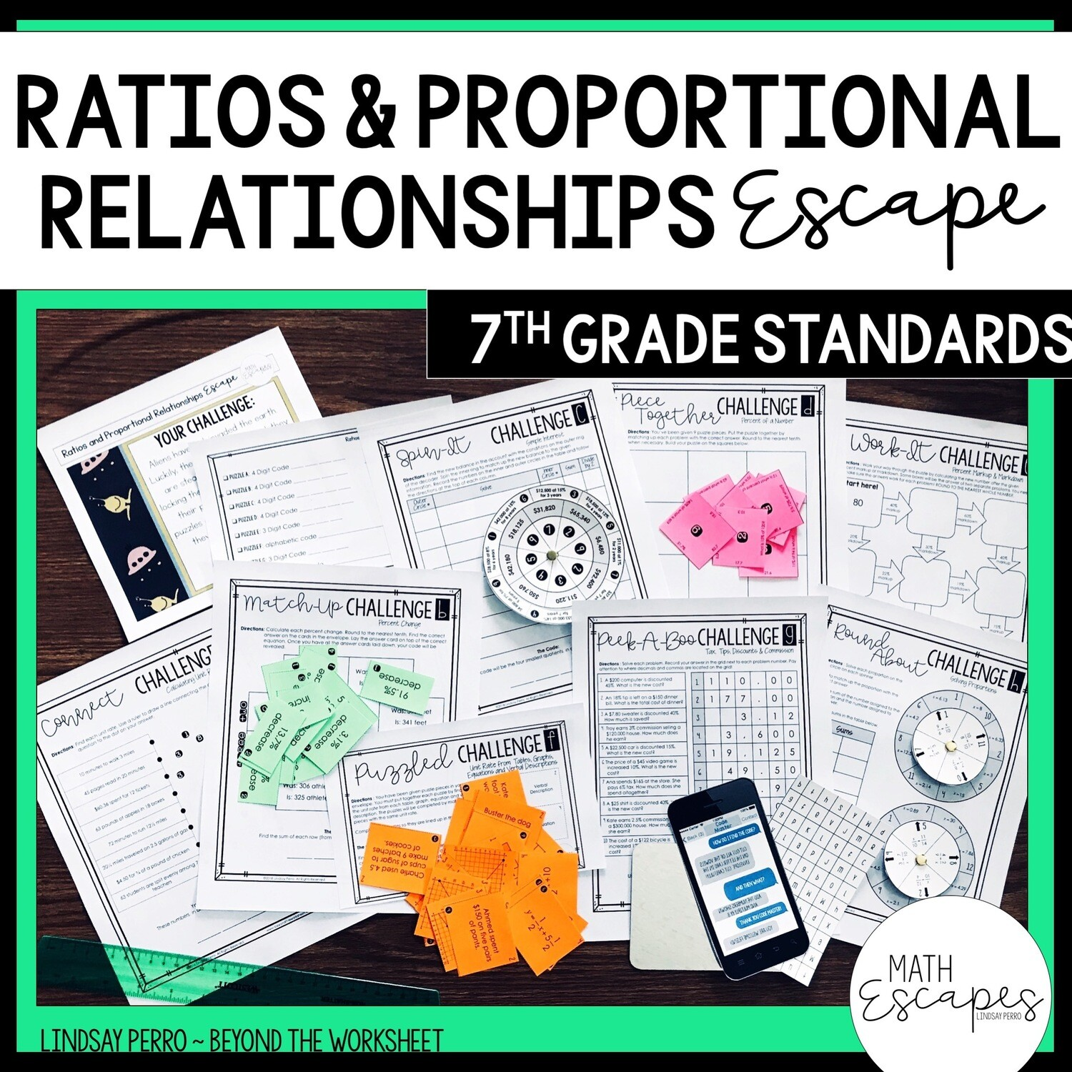 7th Grade Ratios And Proportional Reasoning Escape Room