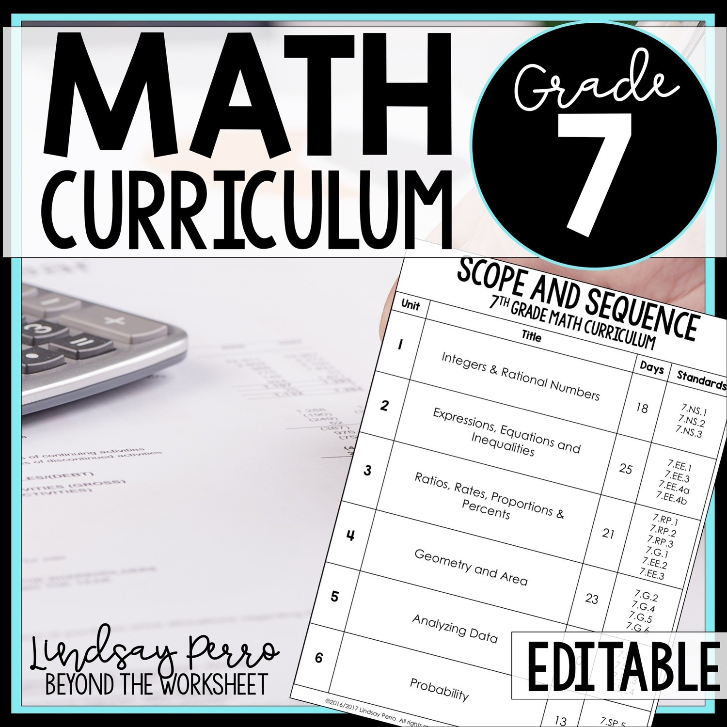 7th Grade Math Curriculum