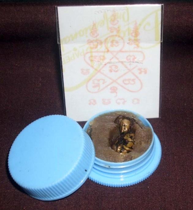 Thai Kuman Tong Amulet in Nam Man Prai oil by LP Tim