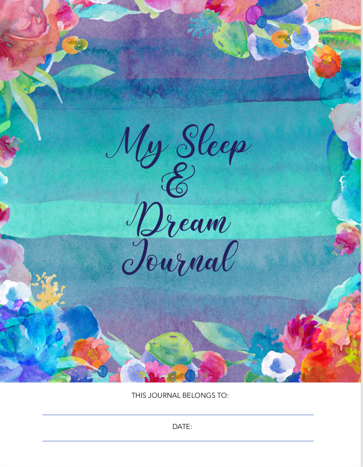 Sleep Tracker Amp Dream Journal Free Printable