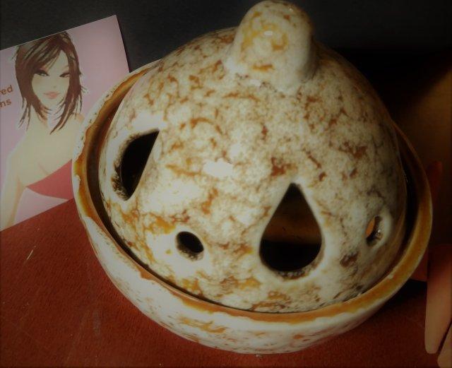 Glazed Ceramic Mini Tower Incense Burner 00155