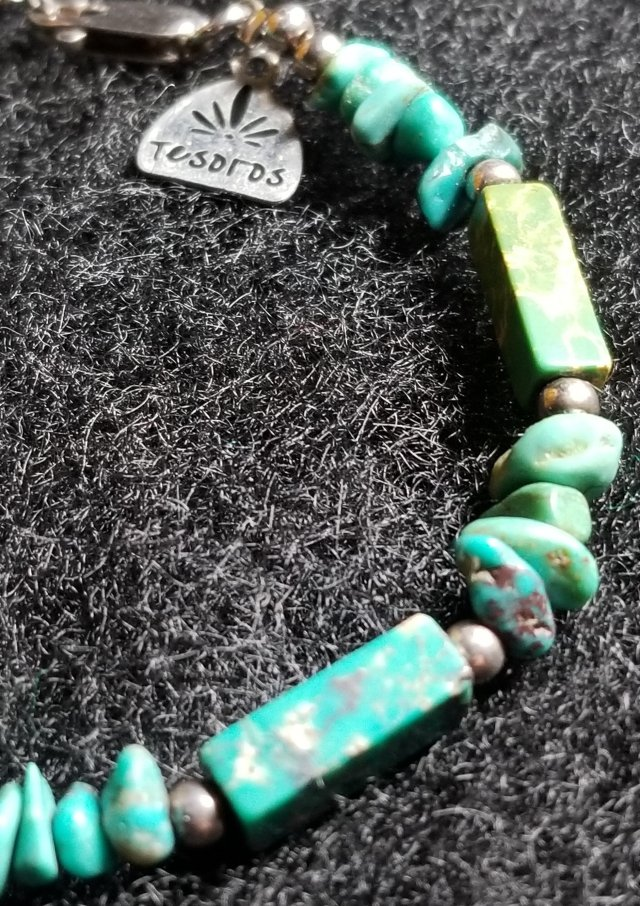 Turquoise  Sterling Silver Bracelet by Tesoros