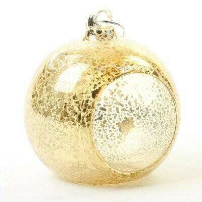 Gold globe tea light holders