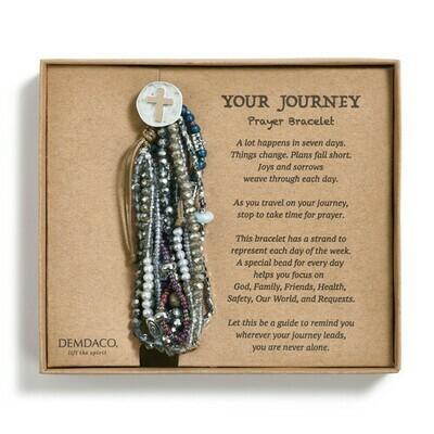 Your Journey Prayer Bracelet - Gray