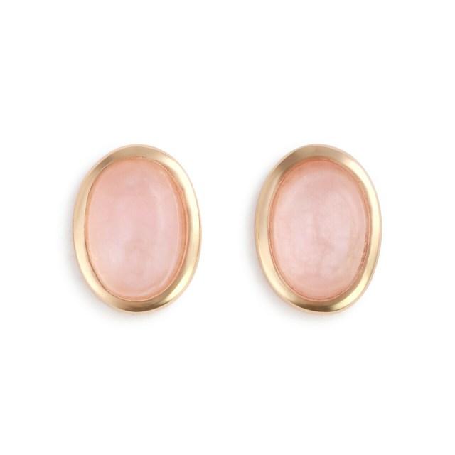 Rose Quartz Gold Giving Earrings