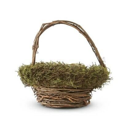 Twig Basket with Moss