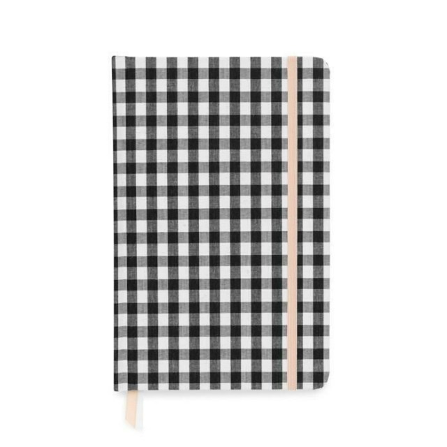 Black and White Gingham Cloth Journal