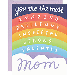Mom Affirmations Rainbow Card