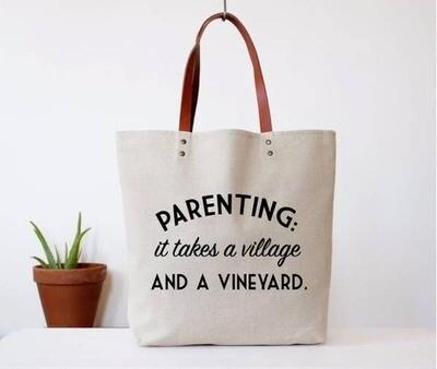Parenting Village & Vineyard Tote Bag