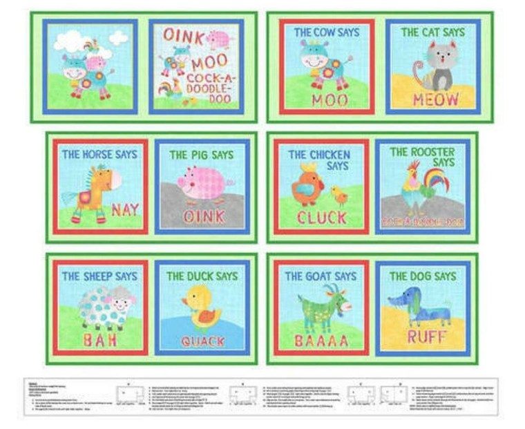 Book Panel Oink Moo 9678P-66