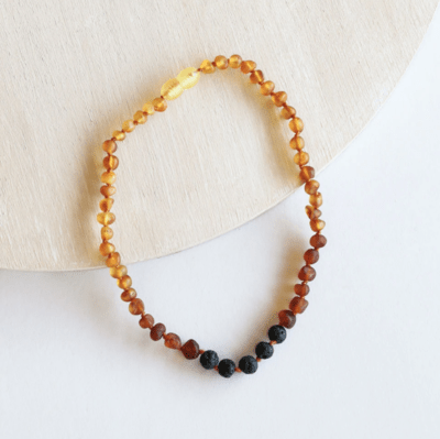 Canyon Leaf Amber Small/Child Necklaces