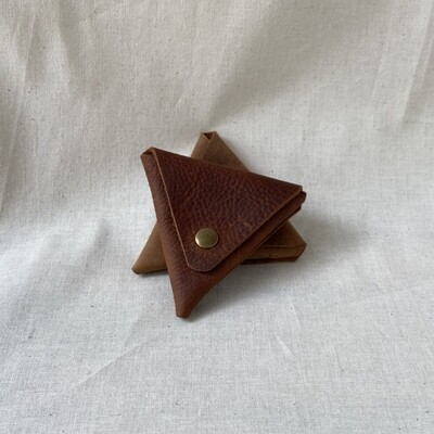 In Blue Triangle Coin Pouch