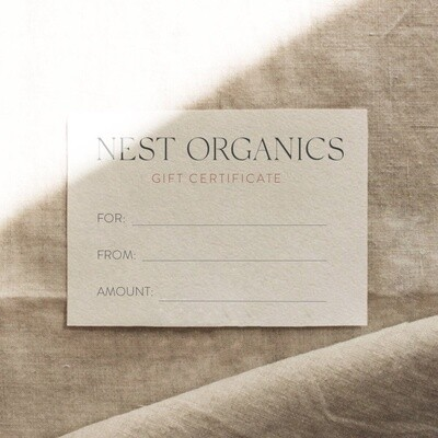 Nest Organics Gift Certificate