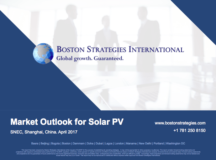Market Outlook for Solar PV - SNEC Shanghai, China. April 2017 10767