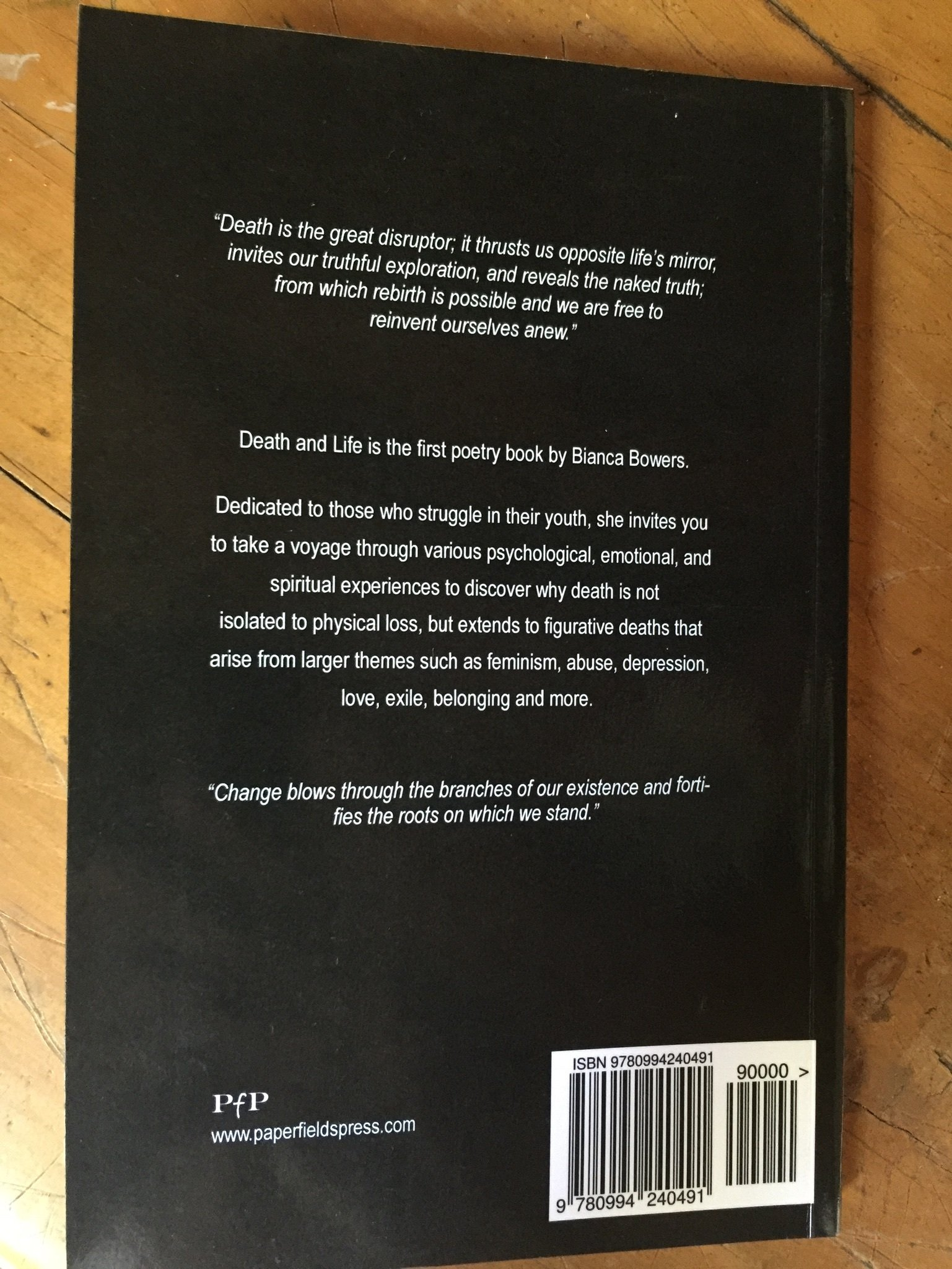 Actual Photo - Back cover