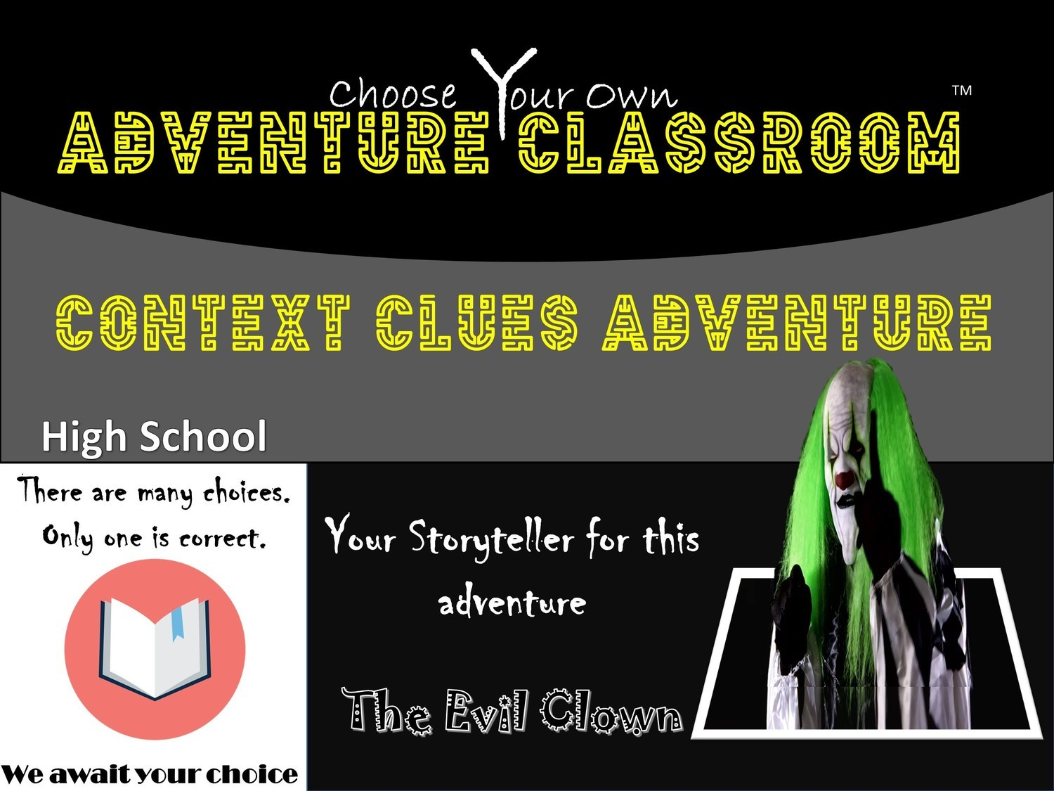 Context Clues High School Adventure 1 Teacher License