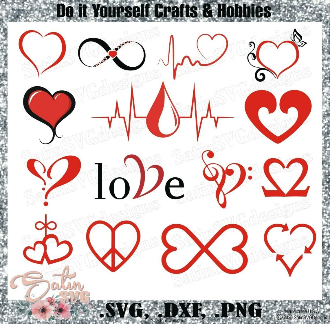 Download Heart-Love Design SVG Files, Cricut, Silhouette Studio ...
