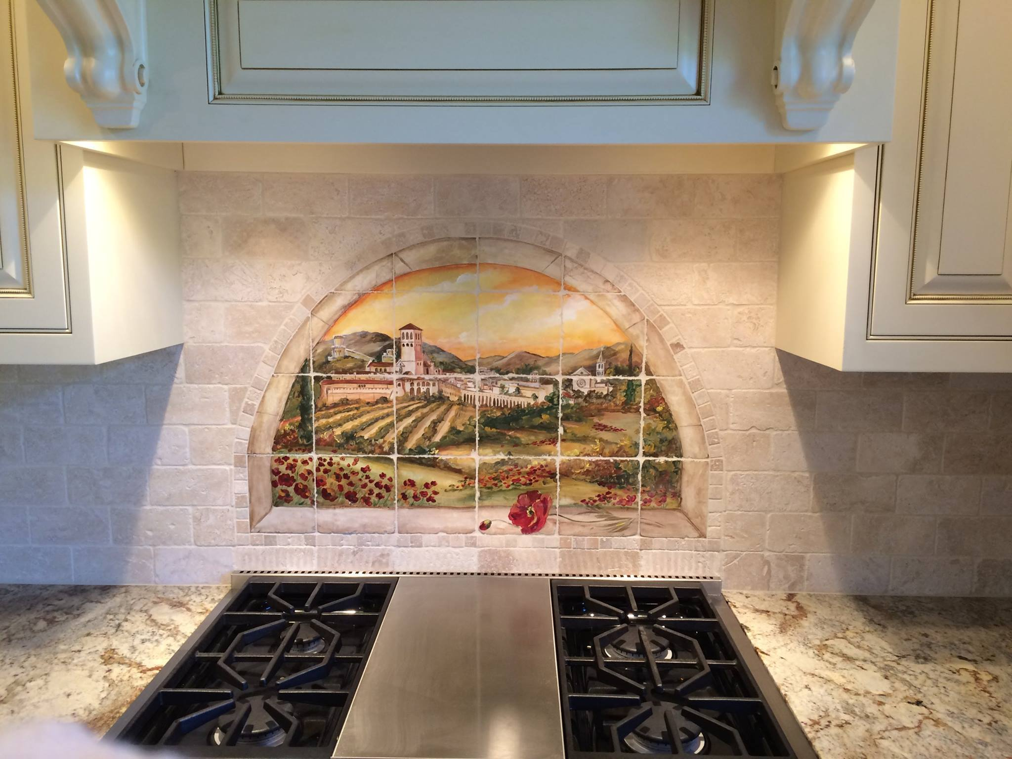 Custom And Installed Hand-Painted Tile Projects
