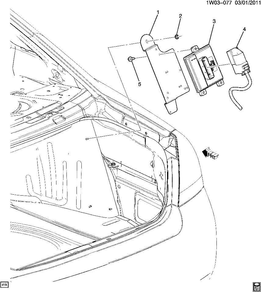 2006 2014 chevrolet impala fuel pump control module w bracket new oem 23345634