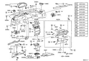 19992003 Toyota Solara Dashboard Side Screw Cover Cap
