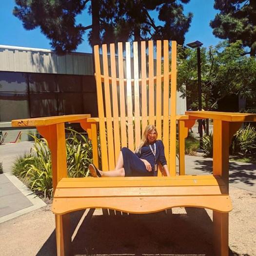 Big Wooden Chair At GooglePlex