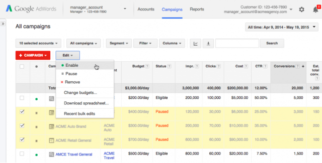 google-adwords-cross-account-campaign