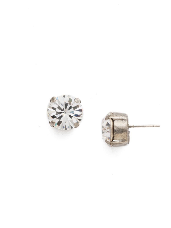Round Crystal Stud Earring